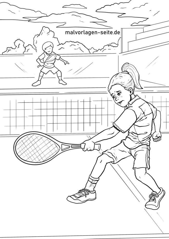 Barvanje igrišča za tenis