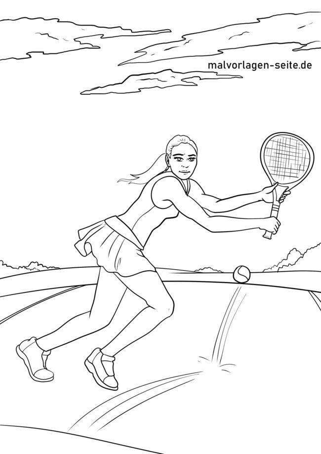 Coloriage tennis