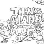 Coloring page Thanksgiving for children
