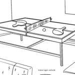 Página para colorir tênis de mesa para colorir