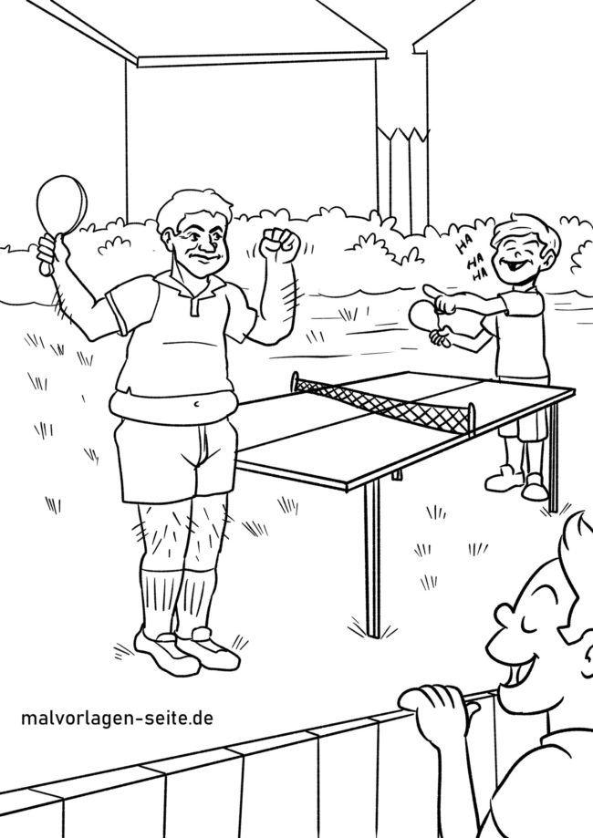 Margotu orriko mahai tenisa