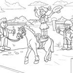 Coloring page vaulting | Riding horses