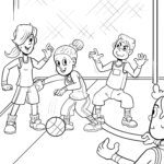 Coloring page Play basque ball for coloring