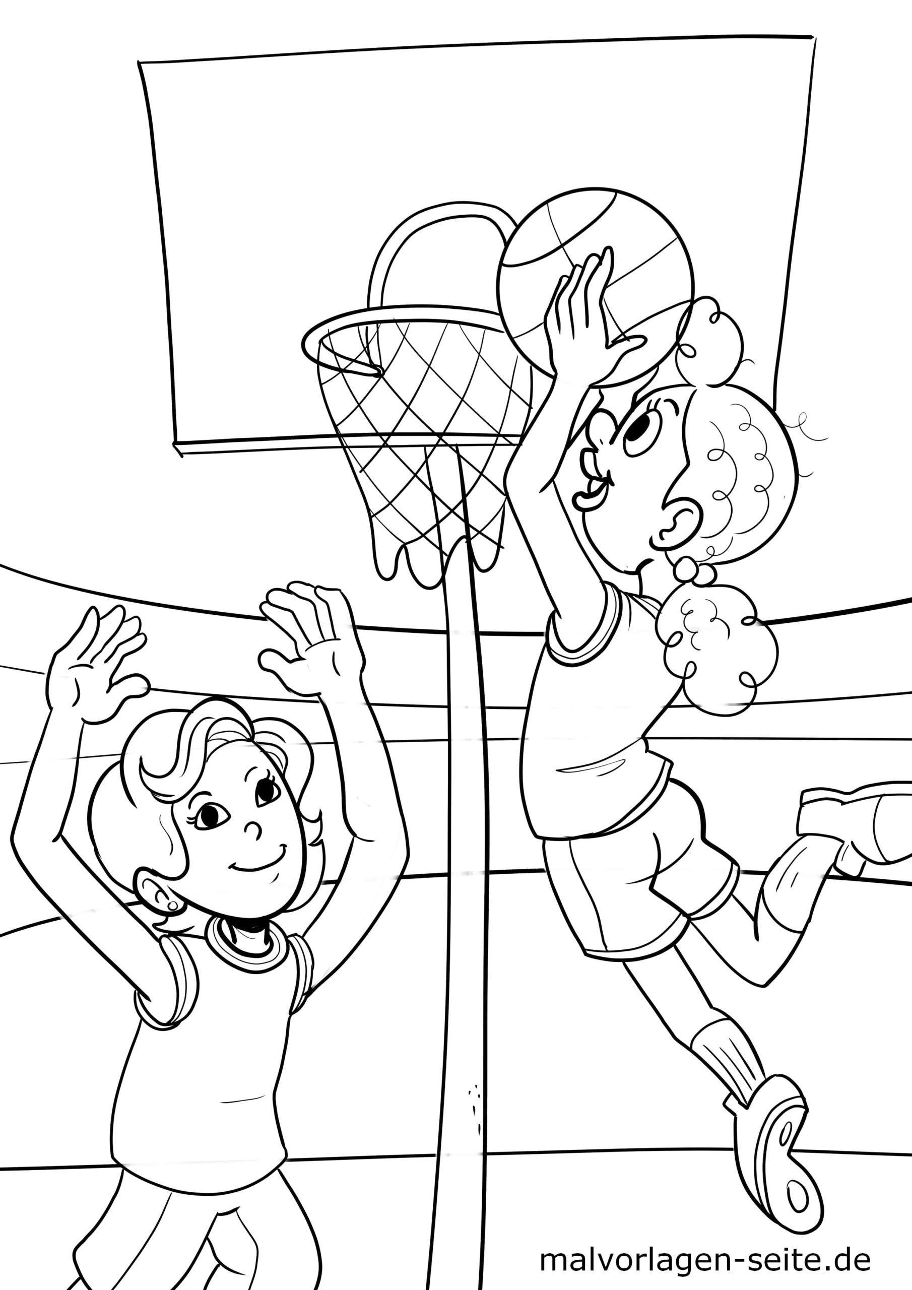 malvorlage basketball  sport  ausmalbilder kostenlos