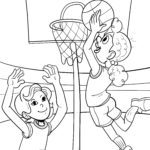 Coloriage basket | Des sports