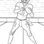 Coloriage Quaterback du football américain à colorier