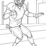 Coloriage ballon de football américain à colorier