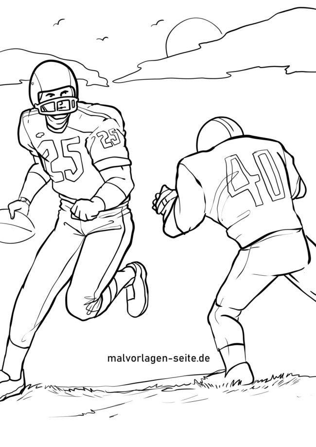 Farveside amerikansk fodbold