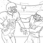 Coloring page superbowl american football