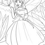 Coloring page elf / fairy