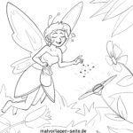 Coloring page elf
