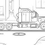 Omalovánky truck / truck / truck na barvu