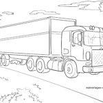 Omalovánka Truck / truck