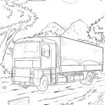 Coloring page truck / truck
