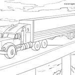 Omalovánka Truck - stránka omalovánky