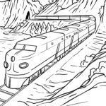 Malvorlage Eisenbahn zum Ausmalen