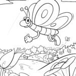 Coloring page spring | Seasons