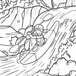 Coloring page kayaking Sports