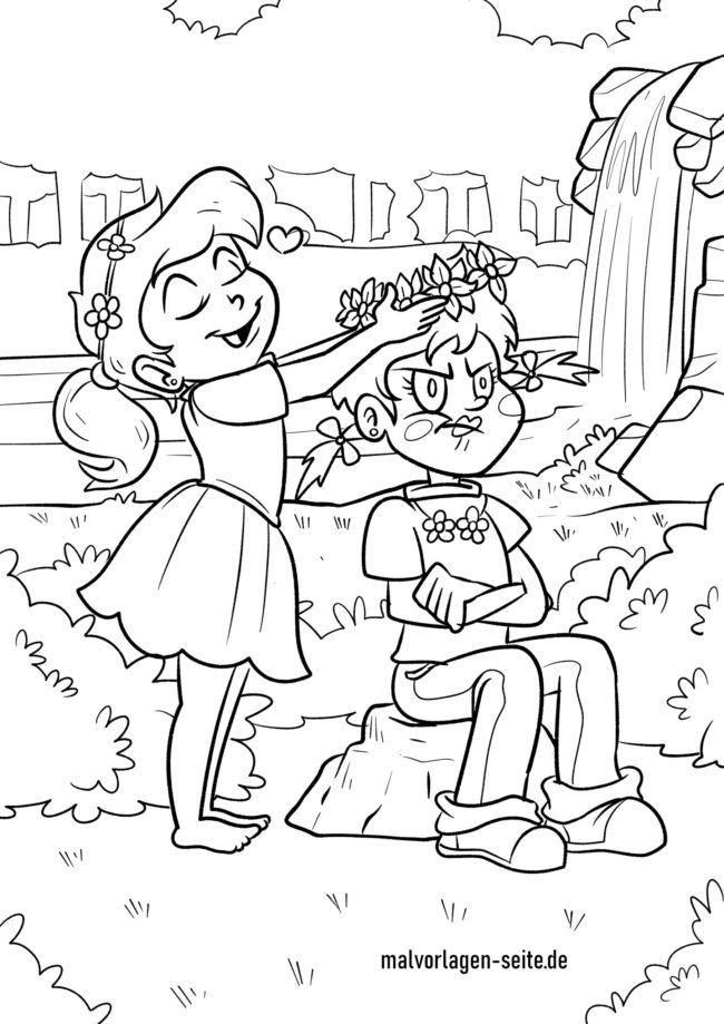 Coloring page girl