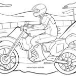 Coloring page motocross | motorcycle