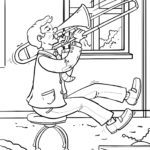 Coloring page trombone Musical instruments
