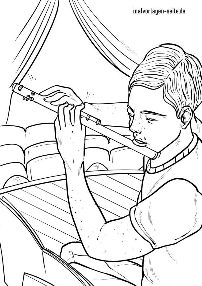 Coloring page flute