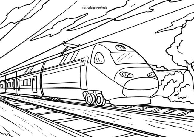 Coloring page railway express train