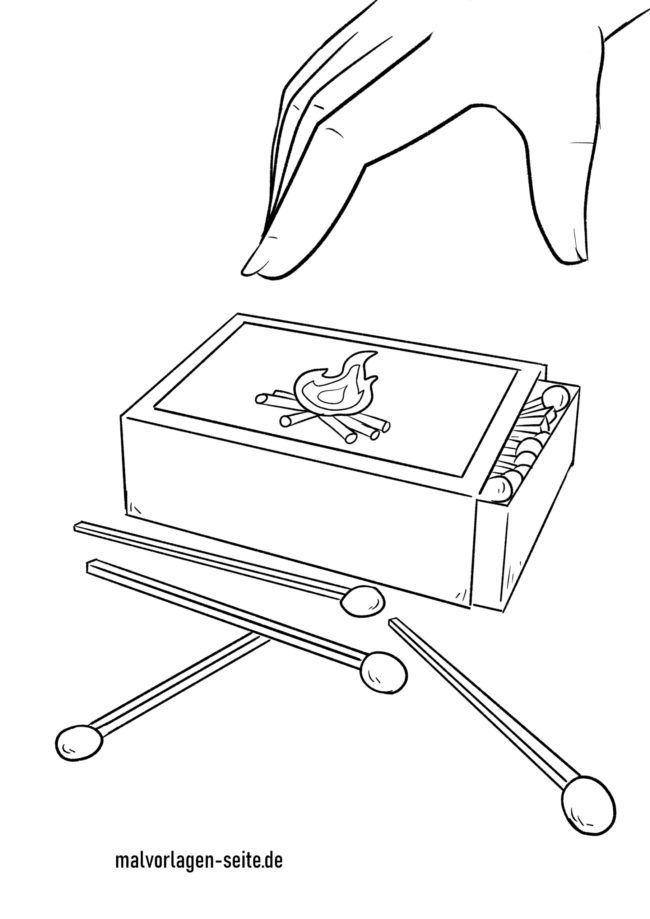 Coloring page matches - matchbox