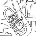 Coloring page tuba Musical instruments