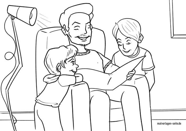 Coloring page read out