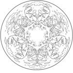 Mandala dinosaurs for coloring - dino pictures