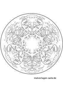 Mandala Dinosaurier zum Ausmalen
