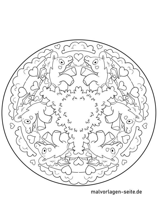 Einhorn Mandala