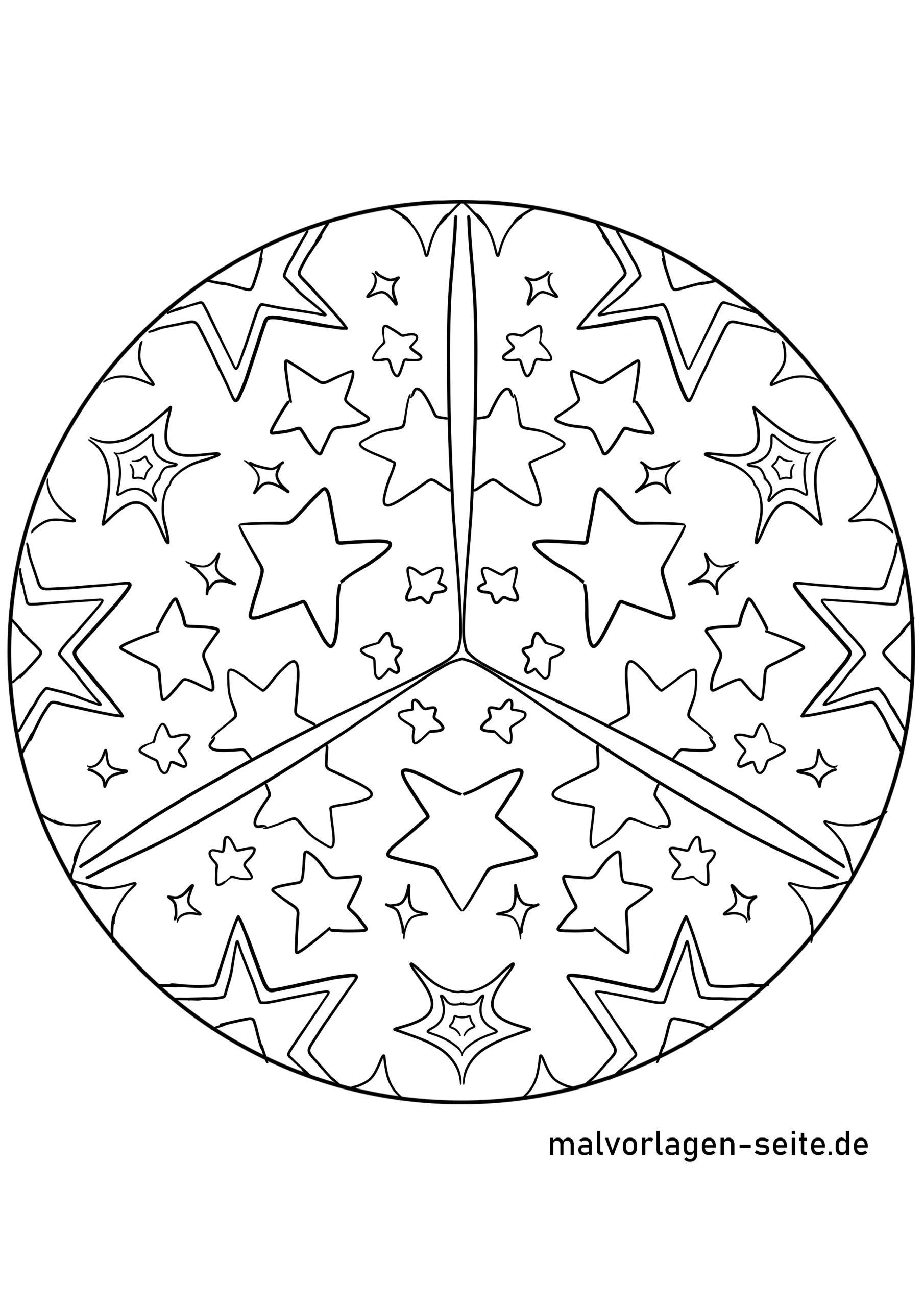 Mandala Sterne - Kostenlose Ausmalbilder