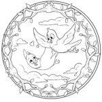 Mandala birds - bird mandala for coloring