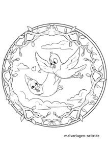 Mandala Vögel - Vogelmandala zum Ausmalen