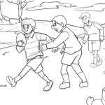 Coloring page play rugby for coloring