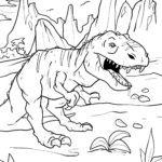 Coloring page Tyrannosaurus Rex | dinosaur