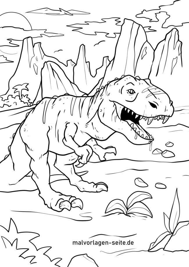 Malvorlage Tyrannosaurus Rex