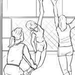 Disegno da colorare giocare a pallavolo