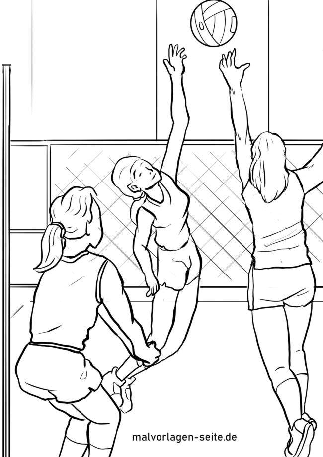 Koloranan nga panid volleyball