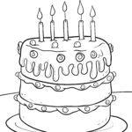 Alles Gute zum Geburtstag zum Ausmalen