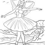 Coloring page ballet dancer for coloring