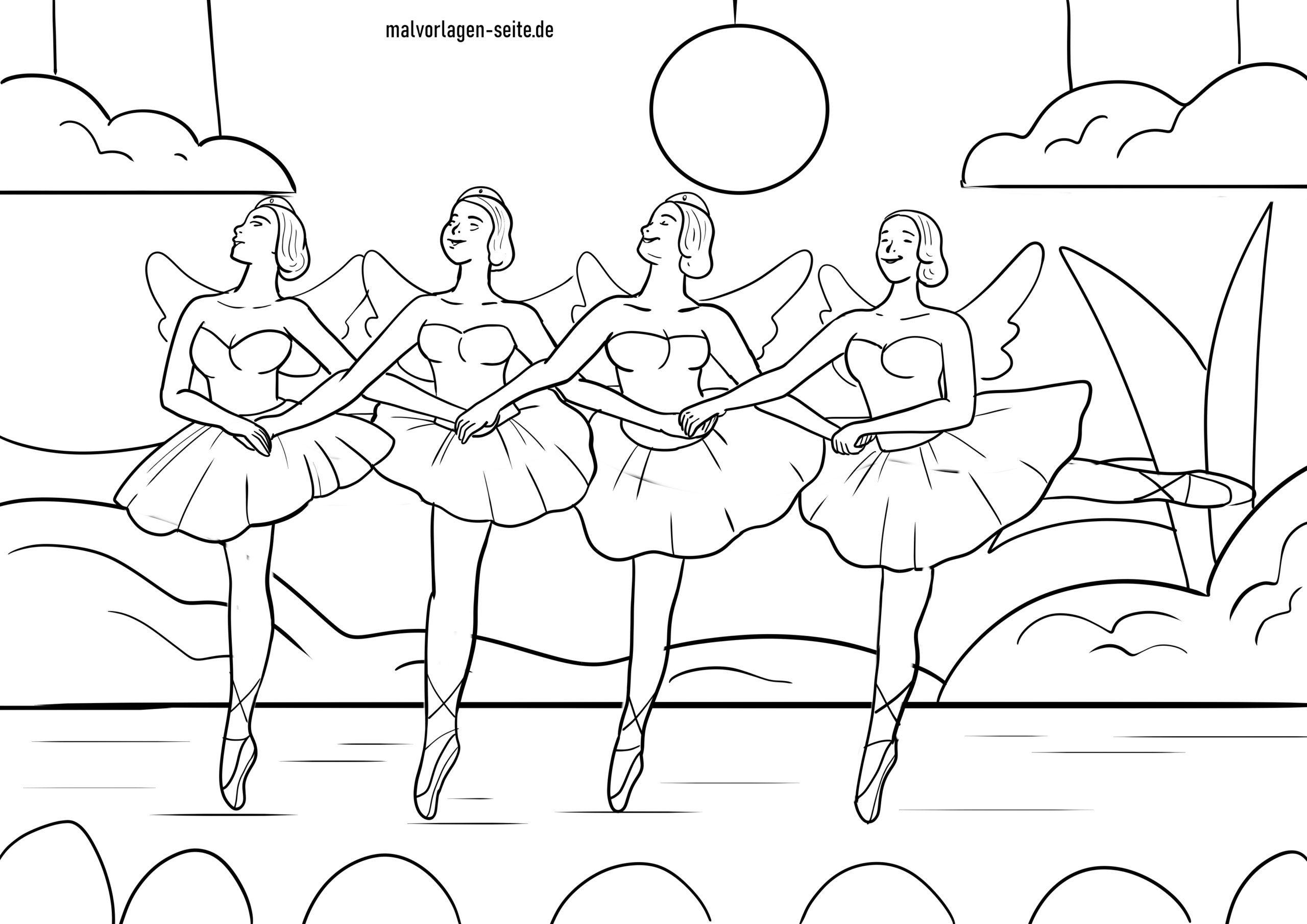 malvorlage ballett  kostenlose ausmalbilder