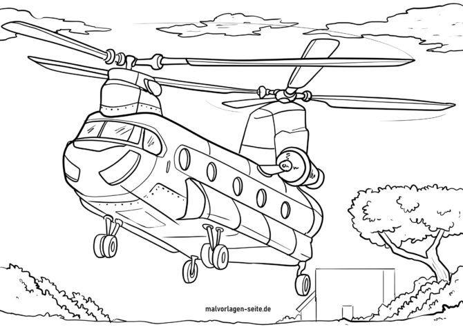 Coloriage Helicoptere Coloriages Gratuits
