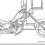 Motorcycle coloring page - download free coloring page