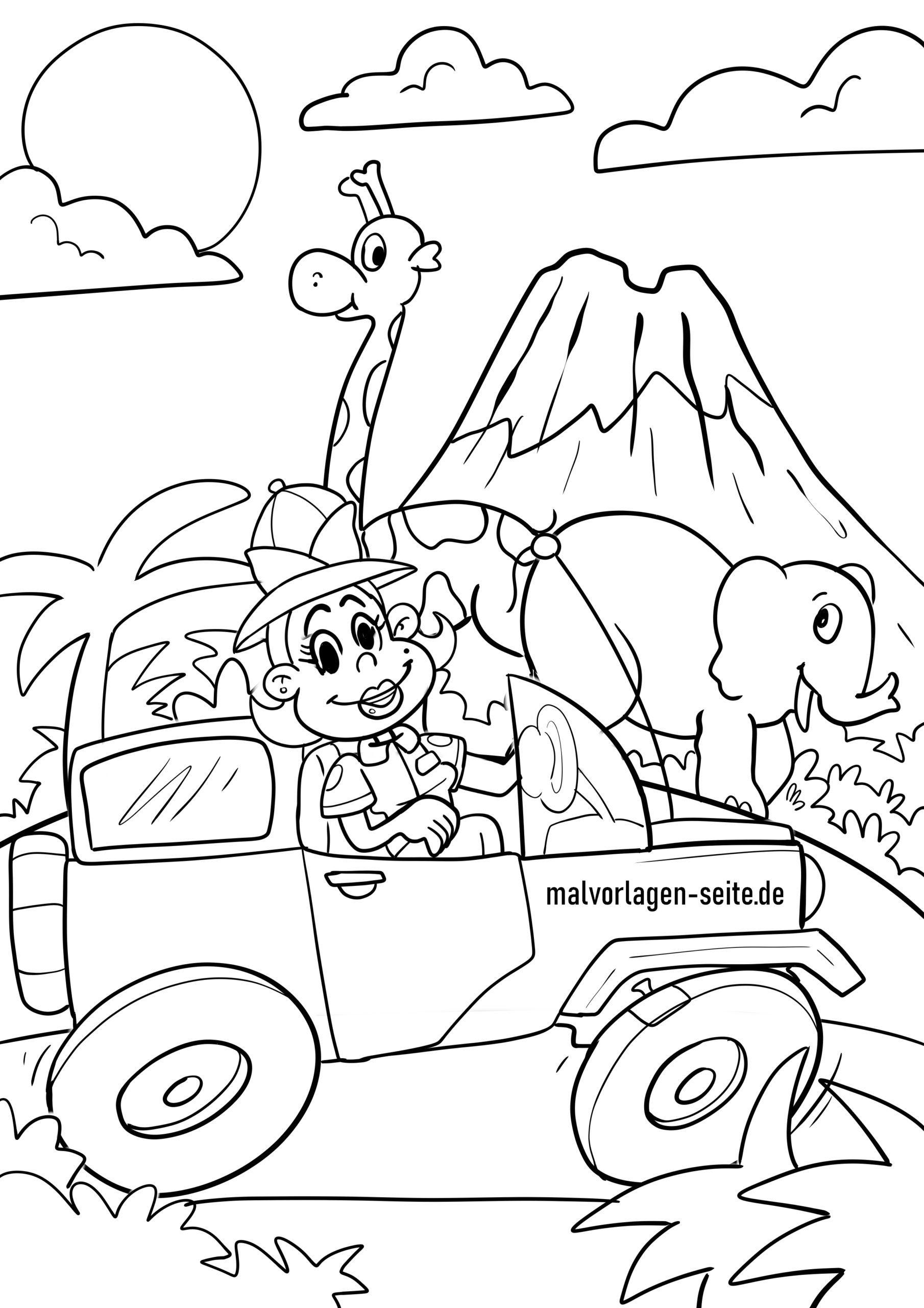 safari tiere ausmalbilder tiere zoo - kostenlose tier