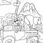Koloriga paĝo Safari | bestoj