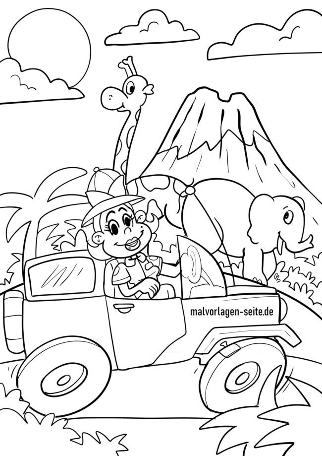 Coloring page safari