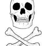 Coloring page skull for coloring